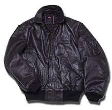 alpha industries leather jacket