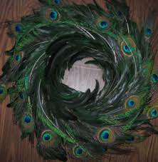 peacock feather centerpieces