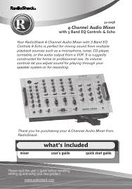 radio shack mixer