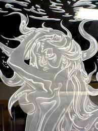 sandblasted glass art