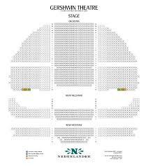 gershwin theater seating chart