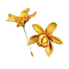 gold hair flower