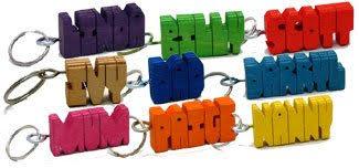 named key rings