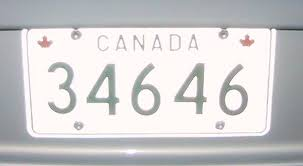 military license plate