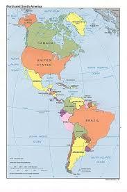 mapa politico de las americas