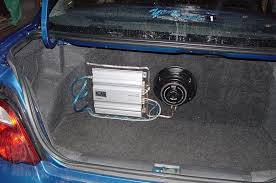 car subwoofer enclosure