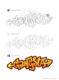 gangster letter alphabet