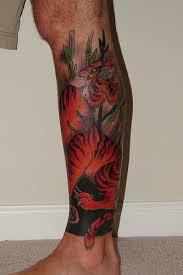 leg tattoo design