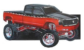drawings of chevy trucks