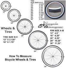 bicycle wheel dimensions