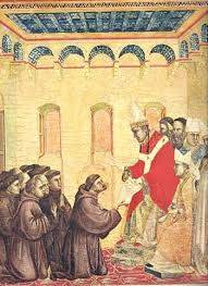 Pope Innocent III grants Francis permission to preach penance