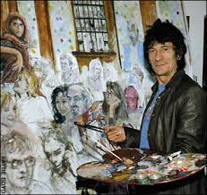 ron wood paintings