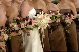 chocolate wedding flowers