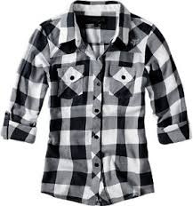 black and white flannel shirts