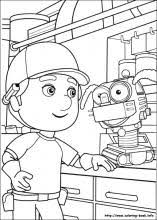 handy manny coloring book
