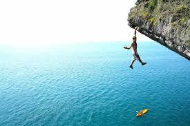 deep water solo climbing