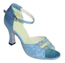 blue dance shoes