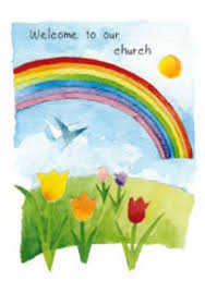 church welcome cards