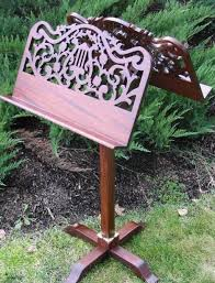 music stands wood
