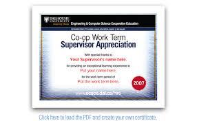 appreciation certificate sample
