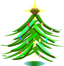 clip art of christmas trees