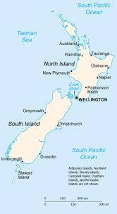 new zealand island map