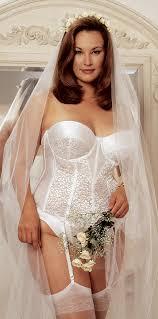 white bridal corset