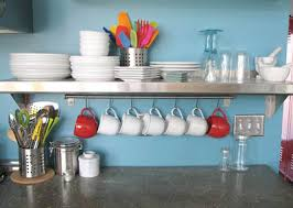 steel kitchen shelf