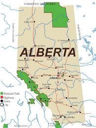 maps of alberta