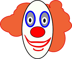 clown face clipart