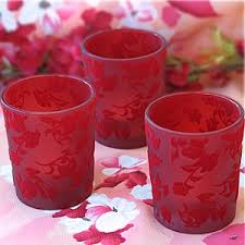 red candleholders