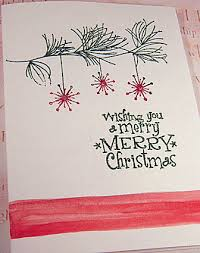 christmas rubber stamping