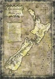 lord of the rings new zealand map