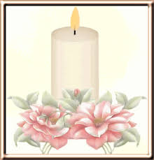 candle with flowers