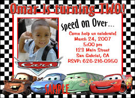 disney cars birthday invitation