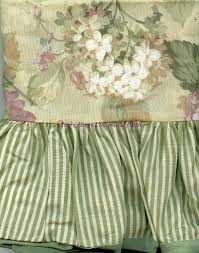 green floral curtains