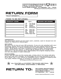 returns forms