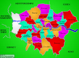 map of london borough