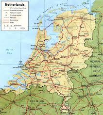 landkaart van nederland