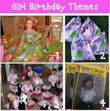 girl birthday themes