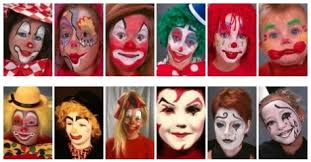 clown faces painted