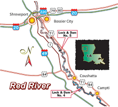 map of red river