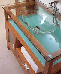 glass bathroom basins