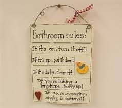 bathroom rules signs