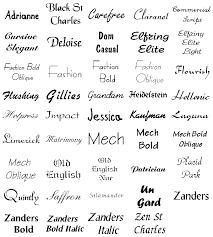 different fonts for tattoos