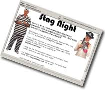 stag night invitations