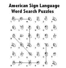 printable sign language words