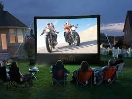 projector outside