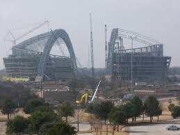 cowboys stadium construction photos