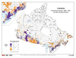 population map of canada